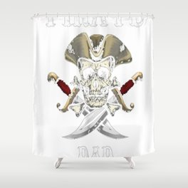 Pirate Dad Halloween T-Shirt Skull Adult Costume Gifts Shower Curtain