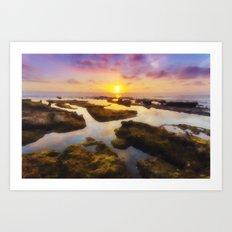 Reflections at Sunset Art Print
