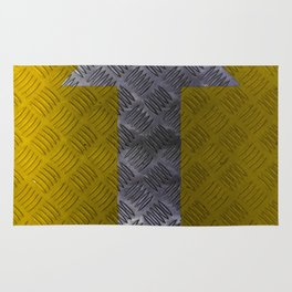 Industrial Arrow Tread Plate - Up Rug