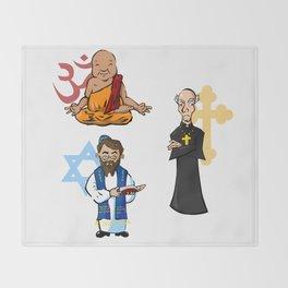 Religious Icons Throw Blanket