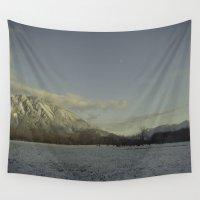 elk Wall Tapestries featuring snow elk by Elle Hanley Photography