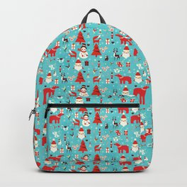 Christmas icons illustration Backpack