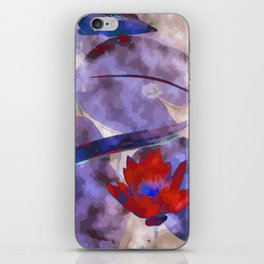 Waterlily Dreaming - Vermillion iPhone Skin