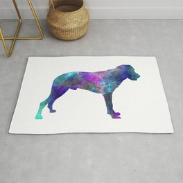 Majorca Shepherd Dog in watercolor Rug