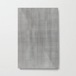 Pantone Pewter Dry Brush Strokes Texture Pattern Metal Print