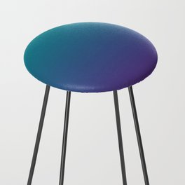 Ombre | Teal and Purple Counter Stool