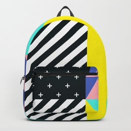 Memphis pattern 90 Backpack