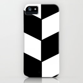 BLACK AND WHITE  DIAGONAL STRIPES  thick iPhone Case