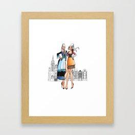 Duo de bretonnes sexy Framed Art Print