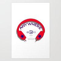 The music is  anywhere Art Print