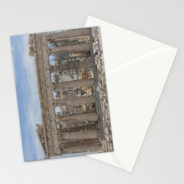 Modern and Ancient - Parthenon at Acropolis of Athens Under Construction Stationery Cards