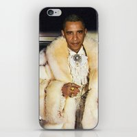 obama iPhone & iPod Skins featuring Fabulous Obama by Andy Detskas