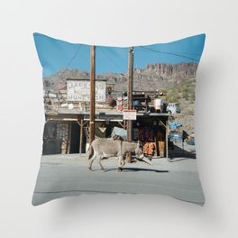 Jackass Junction Throw Pillow