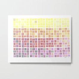 Pencil Mosaic #1 Metal Print