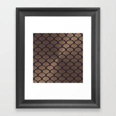Art Deco Shell Pattern Framed Art Print