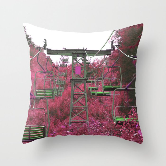Ski Lift in the Summer Throw Pillow