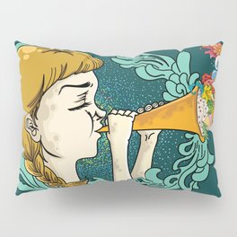 Girl with Trumpet Pillow Sham