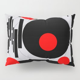 Optical Red Pillow Sham