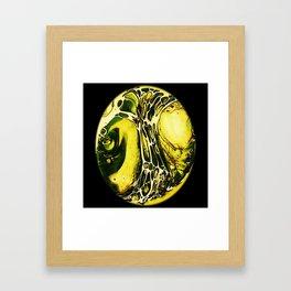 Tint Blot - Cracked Glass Yellow Framed Art Print