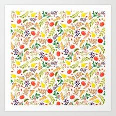 Fruits and Colors Art Print