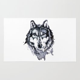 Wolf Painting Rug
