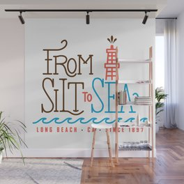 From Silt to Sea | Long Beach California Tribute | From Oil Workers to Surfers Wall Mural