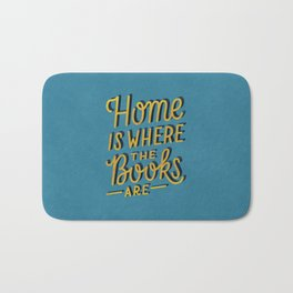 Home is Where the Books Are Bath Mat
