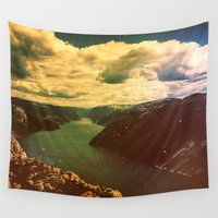 swimming Wall Tapestries featuring Swimming Party by Daniel Montero