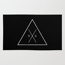 The Society Six (White Graphic) Rug