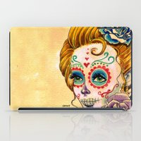 fitzgerald iPad Cases featuring Dia de los Muertos Roses by Cathy FitzGerald