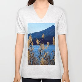 At the Foot of a Giant Unisex V-Neck