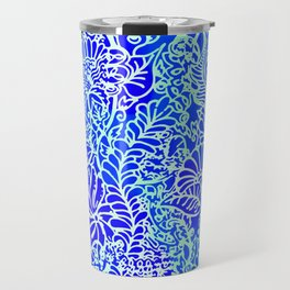 Jungle Garden, Blue Travel Mug