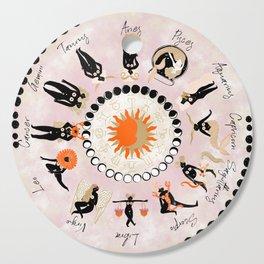 Zodiac Wheel Cutting Board