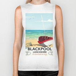 Blackpool, Lancashire, Rail poster Biker Tank