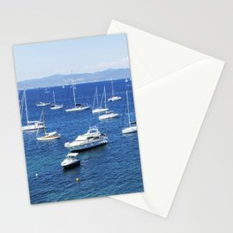 Seacoast in summer of the island of Porquerolles Stationery Cards