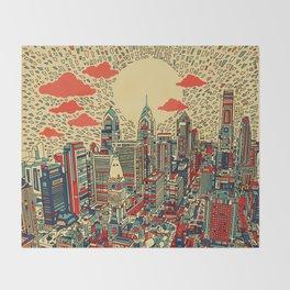 philadelphia city skyline Throw Blanket