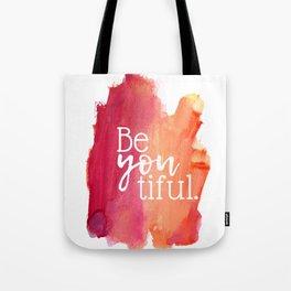 BeYOUtiful Watercolor Print Tote Bag