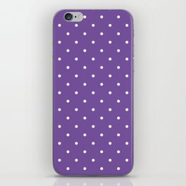 Small White Polka Dots with Purple Background iPhone Skin