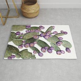 Purple Prickly Pear Painting Rug