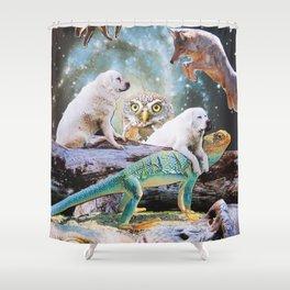 Cosmic Creatures Shower Curtain