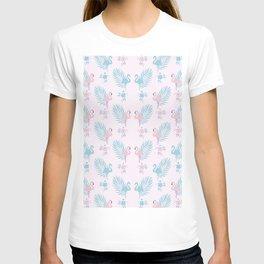 Pretty Pastel Flamingo Chevron Pattern #decor T-shirt