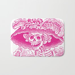 Calavera Catrina | Pink and White Bath Mat