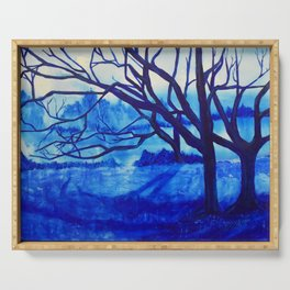 Blue Forest Serving Tray