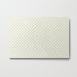 Earthy Green on Cream Parable to 2020 Color of the Year Back to Nature Angled Grid Pattern Metal Print