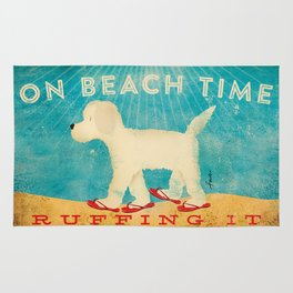 Beach Life Doodle by Stephen Fowler Rug