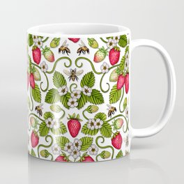 Strawberries & Honey Bees - Spring/Summer Pattern Coffee Mug