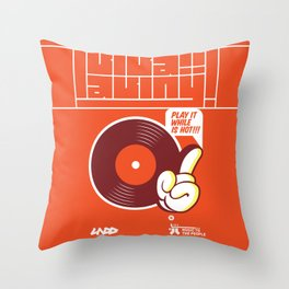 UNDO | Music to the people 02 Throw Pillow