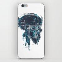 blueprint iPhone & iPod Skins featuring Cranial Blueprint by James Beech
