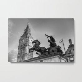 Big Ben and Boadicea Statue  Metal Print