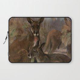 Vintage Kangaroo Painting (1909) Laptop Sleeve